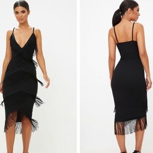Missguided Black Strappy Dress Size 4